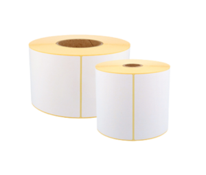 Image shows a roll of Zebra labels