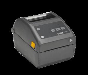 Image shows a Zebra desktop printer